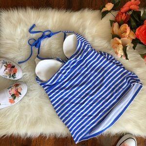 Liz Lange Swim - Liz Lange Maternity Tankini Top Blue Stripe NWT